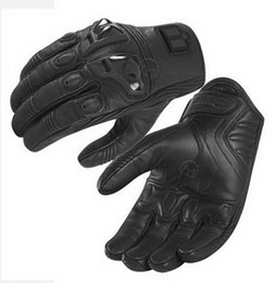 2015 New Model Moto Racing Gloves Stealth series I Cattle Leather motorcycle gloves motocross motorbike glove with Retaining shell black