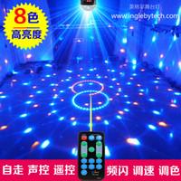 Wholesale Sound color high brightness led crystal magic ball stage light laser light bar ktv wedding disco lights flash