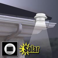 Wholesale 2015 Sensor Solar Power LEDs Garden Light LED Fence Lamp Solar Gutter Light IP44 Outdoor LED Lawn Light Cold White