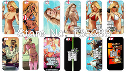 Wholesale hot New design gta poster hard white case cover for iphone s th