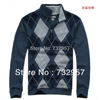 Wholesale Famous brand business casual zipper long sleeve pullover sweatshirts Autumn winter men s clothing golf polo shirt plus sweater