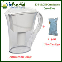 Wholesale Hot sale L Alkaline Water Pitcher PTX WP20 Alkaline Water Jug with filter cartridge White and Blue Optional