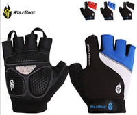 half finger gloves - WOLFBIKE Brand Non slip Short Gloves Mitten Road MTB Motorcycle Cycling Bike Bicycle Racing Riding Breathable Half Finger Glove hightquality