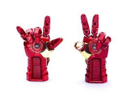Promotion vétérans de détail AVENGERS LED IRON MAN 3 Modèle de la main USB 2.0 64gb / 128gb / 256gbUSB 2.0 mémoire flash Pen Drive Stick DHL Retail Blister Packaging Livraison gratuite