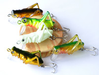 Wholesale 5pcs g cm Sea fishing tackle flying Fishing lures jig wobbler lure grasshopper insects hard lure bait artificial jerk bait