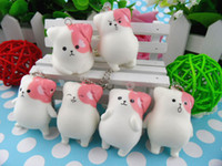 Wholesale 6 Popular Squishy Soft Puppy Mushroom Phone Pendant Strap Kawaii Squishies