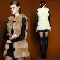 Wholesale Hot Sale Lady Vests Shawl Clothing Fashion European Style Faux Fur Vest Winter Warm Coat Outwear Long Hair Jacket Waistcoat Tops
