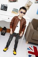 Cheap boy leather Jacket Best children fur clothes