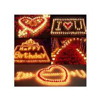 Wholesale Z101 quot hot sale pack Smokeless Aluminum Wax Candles Tea Light Wedding Party Deco Valentine Gift