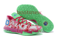 Wholesale 2014 Latest edition mens basketball shoes KD two layer Flywire sports shoes easter version ultra light shoes size EURO