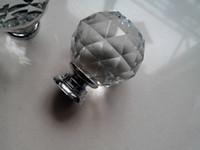 cabinet door - 40mm Diameter Free Fedex K9 Crystal Cabinet Crystal Knobs Knob Door Handles Bedstand knobl door pull D mm H mm