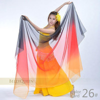 Cheap 50pcs lot Tribal Belly Dance dazzle color silk Veil Dancing Show Pashmina Shawl Stagewear Costume t041