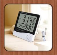 alarm temperature sensors - Freeship Huge Digital Industrial Temperature Humidity Moisture Meter Tester Sensor Thermohygrometer Hygrometer Thermometer Alarm