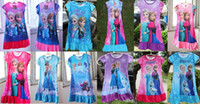TuTu nighties - 4pcs girl frozen nighties elsa and anna dress many colors