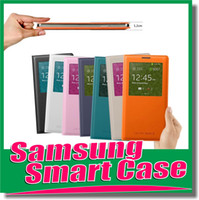 Cheap Official S View Wake Sleep smart case open window Cover Flip cases for Samsung Galaxy S4 i9500 S 4 S5 S 5 i9600 Note 3 N9000 High quality