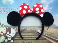 Wholesale Bestselling Hallowmas lovely Minnie Mouse Mickey Costume Dress Up Ears Headband