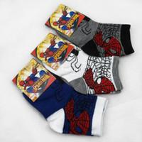 cartoon children socks - Super deal New Baby Boys Girls Spider man Socks children s cartoon character socks years pairs I008