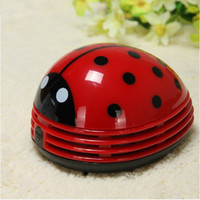 Cheap Mini Ladybug Desktop Coffee Table Vacuum Cleaner Dust Collector for Home Office LJP07