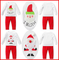 baby gown patterns - Autumn Winter Baby Boys Girls Santa Claus T shirt Pants Two Piece Suit Set Christmas Suits Infant Toddler Children s Outfits Sets Melee