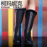 Wholesale Komanic genuine leather women s classic tall Boots Womens high boots platform snow boots Winter boots over the knee boot K36279