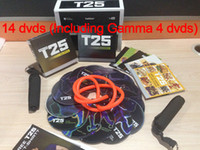 Wholesale 2014 New DVDs Focus T25 Shaun T s Crazy Potent Slimming Training Set Body Sculpting Fitness Video Alpha Beta Gamma Core Speed T25 Workout