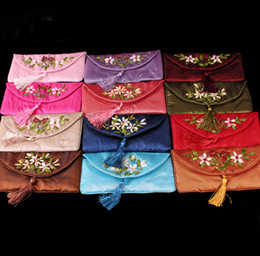 Wholesale CHINESE EMBROIDERED Silk Glasses bags Eyeglass Cases attractive in price and quality