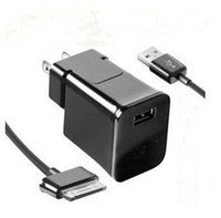 Wholesale AC HOME TRAVEL WALL CHARGER ADAPTER USB CABLE CORD for SAMSUNG GALAXY TAB S A
