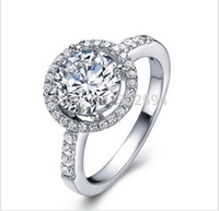 Cheap 2014 new love fashion Wedding Party Cool Gifts 925 sterling silver CZ Zircon crystal cute Ring jewelry Platinum Plated whit Box