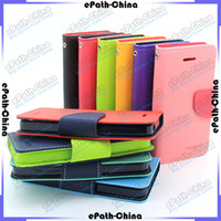 Wholesale Premium Wallet Credit Card Cash Holder Flip Leather Case Cover For iPhone S