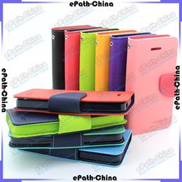 Wholesale Premium Wallet Credit Card Cash Holder Flip Leather Case Cover For iPhone S