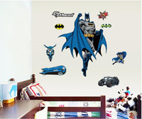 Wholesale Batman Wall Sticker for Boy Cartoon Decorative Wall Decal Movie Poster for Kids Home Decoration