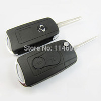 alarm covers - Flip Key Shell Modified for SSANGYONG car key case for Actyon Kyron Rexton Button remote keyless entry cover