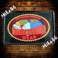 metal plaque - Mike86 INACTIVE WEAR Metal Plaque Poster Antique Wall Decor Painting Vintage Bar Tin Signs A Mix Item CM