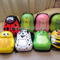 Wholesale 2015 New Style Children Backpack Cartoon Shell Kids Package Import ABS PC Infant Bags For Baby BA40830