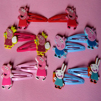 Cheap Barrettes & Clips peppa pig hair clip Best Children's Party hair clip for girls