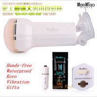 Cheap Male Masturbation Cup Hand-free waterproof vibration Masturbation Cup for men Male Masturbator Automatic Sex Toys