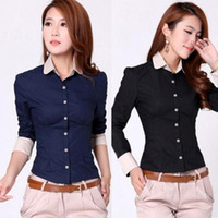 Black Button Down Shirt Women S Price Comparison | Buy Cheapest ...