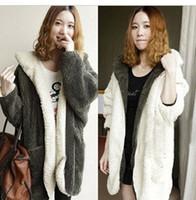Wholesale Fashion Winter Coat For Women Double Faced Fleecee Warm Outwear Women Hoodies Jackets Middle Long Fur Coat Plus Size