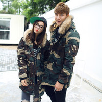 Women fur hooded jackets - Hot Selling New Arrival Winter Jacket Women Camouflage Print Parkas Hooded Large Fur Collar Long Design Wadded Jacket Coat