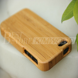 Wholesale Apple iphone S wood veneer phone shell protective sets of thin bamboo wooden phone shell protective shell shell bamboo wood case