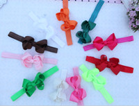 Wholesale New Baby inch Ribbon Big Bows Headbands Baby Girl Grosgrain Bows Soft Stretchy Elastic Bow Headbands Headwear Bowknot Headband Hair Bows