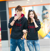 Wholesale Autumn new lovers grace Shanghan Guo winter hooded sweater female Korean couple head feeling Ban clothing coat