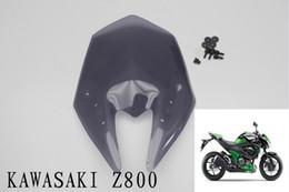 Wholesale smoke Motorcycle Windshield WindScreen For kawasaki z800 Double Bubble