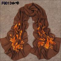 Wholesale Min order Spring New Women s Fashion small flowers printed Design chiffon georgette silk scarf shawl