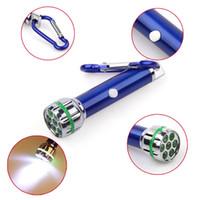 Cheap 7 LED Mini Flashlight Key Chain Flashlights White LED Flashlight Aluminum Flashlight Carabiner Flashlight LED Key Chain Mini LED Flashlight