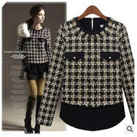 Cheap 2014 New European Women Jackets Spring Autumn Long Sleeve Knitted Coat Fashion Woman Clothes Casacos Femininos Plus Size Jackets For Women