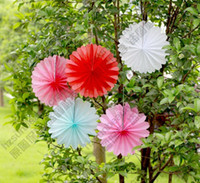 Wholesale Tissue Paper Folded Flower Fan Round Hanging Decoration cm for Birthday Party Christmas Wedding Home Room Garden Room Decoration
