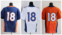 Wholesale Hot sell DEN Orange White Navy Blue American Football Elite Jerseys Man Rugby Stitched Jersey Authentic On Field Jerseys Mix Order NWT