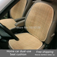 Wholesale Car seat cushion car seat formaldehyde rattan shaving wooden cane cushion rattan seat summer bamboo mat hot selling
