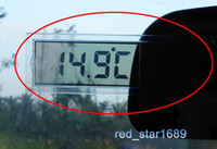 Wholesale 2pcs Suction cup LCD electronic clock automotive vehicle clock car thermometer